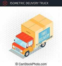 Delivery truck with a box