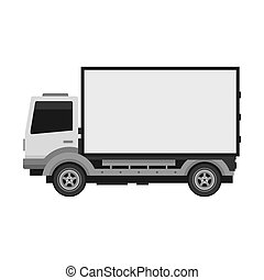 Delivery Truck with Blank Mobile Billboard.