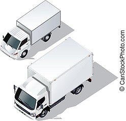 delivery trucks set - delivery truck isometric set Available...