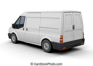 Delivery van - 3D render of a delivery van
