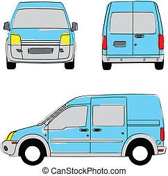 Delivery van artistic colors