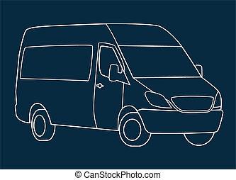 Delivery van blueprint