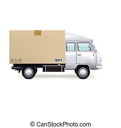 Delivery van Isolated on white