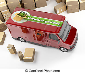 delivery van, livraison gratuite