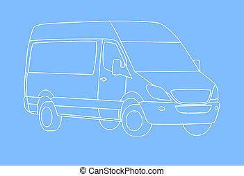 Delivery van outline