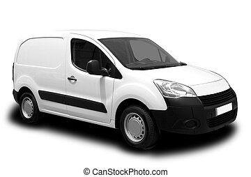 Delivery Van - A White Delivery Van Isolated on White