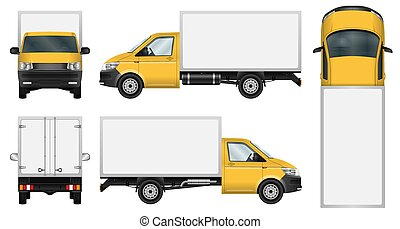 Delivery van template.