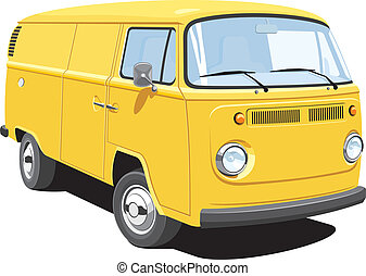 Delivery van - Vector isolated delivery van, without ...