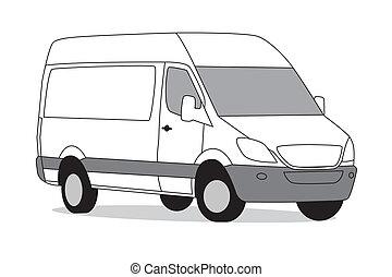 Delivery van white