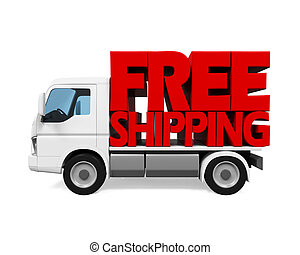 Delivery Van with Free Shipping