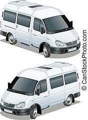 delivery vans isometric set