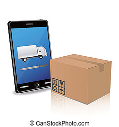 delivery with smart phone