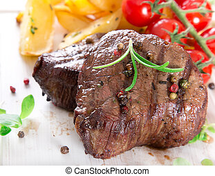 delizioso, bistecca manzo