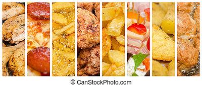 delizioso, fast food, collage