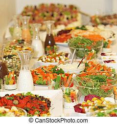 delizioso, grande, buffet