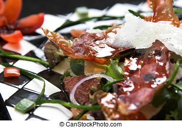 delizioso, insalata, italiano