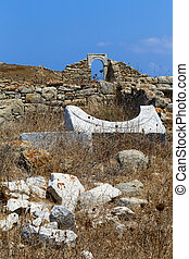 delos, ruïnes