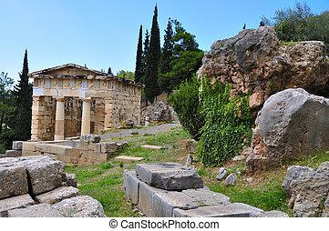 Delphi ruins in greece