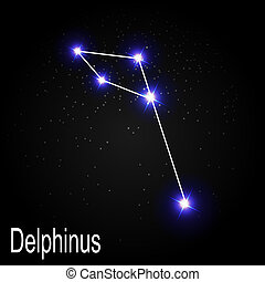 Delphinus Constellation with Beautiful Bright Stars on the ...