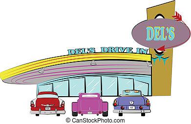 dels, водить машину, гостиница, из, , пятидесятые годы