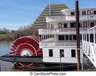 Steam Boat - Delta King Steam Boat, Sacramento, Ca.