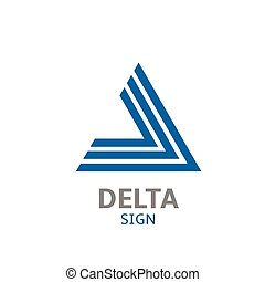 Delta logo sign - Blue Abstract delta logo sign. Vector...