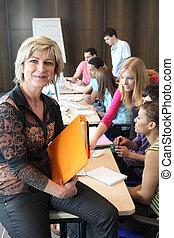 deltagare, lärare