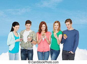 deltagare, le, smartphones