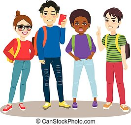 deltagare, skola, baksida