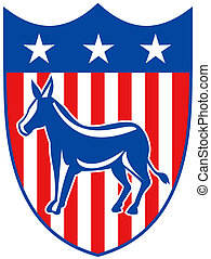 demócrata, burro, mascota