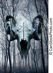 demônio, floresta