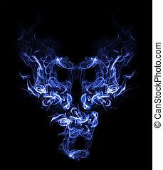demônio, fumaça