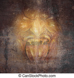 demônio, rosto