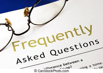 demandé, (faq), frequently, questions