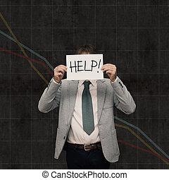 demander, fracas, -, aide, économie