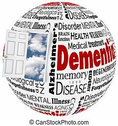 Dementia Alzheimer's Disease Losing Memory Brain Mind Disorder Condition