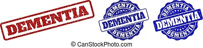 DEMENTIA Scratched Stamp Seals - DEMENTIA grunge stamp seals...