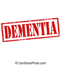 Dementia-stamp - Grunge rubber stamp with text...