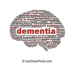 Dementia symbol conceptual design isolated on white...
