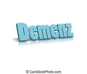 demenz /dementia 3d word
