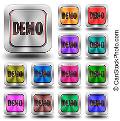 Demo aluminum glossy icons, crazy colors