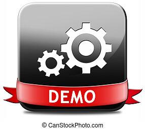 demo button - Demo button or icon for free trial download ...