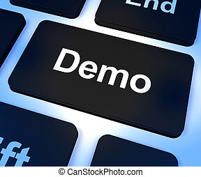 Demo Computer Key To Download A Version Of Software - Demo...