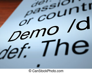 Demo Definition Closeup Showing Demonstration Of Product - ...