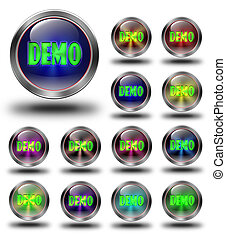 Demo glossy icons, crazy colors