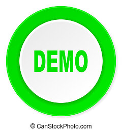 demo green fresh circle 3d modern flat design icon on white background
