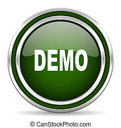 demo green glossy web icon