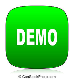 demo green icon for web and mobile app