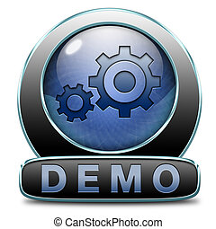 demo icon - Demo download button or icon for free trial...