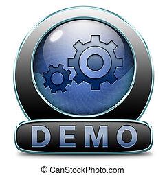 demo icon - Demo download button or icon for free trial...